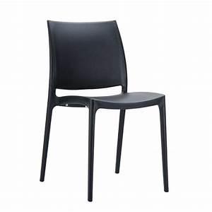 Chaise Plastique Noir : chaise en plastique polypropyl ne maya 4 pieds tables chaises et tabourets ~ Teatrodelosmanantiales.com Idées de Décoration