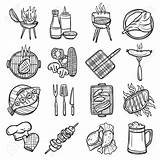 Bbq Drawing Getdrawings Sketch Grill sketch template