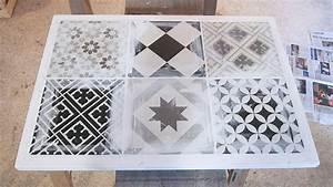 diy bricolage table basse en carreaux de ciment o chocodisco With faire des carreaux de ciment