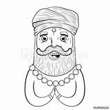 Indian Turban Coloring Comp Contents sketch template
