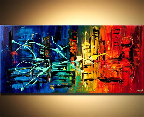 Buy Colorful Abstract Cityscape #6115