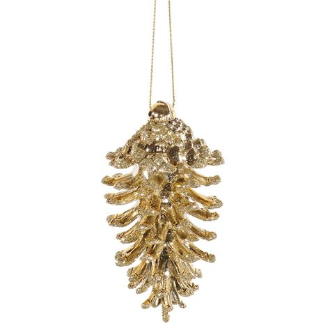 vickerman 3 5 quot gold pine cone ornament seasonal