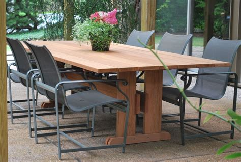 Outside Patio Table by Handmade Outdoor Table By Wilson Furniture