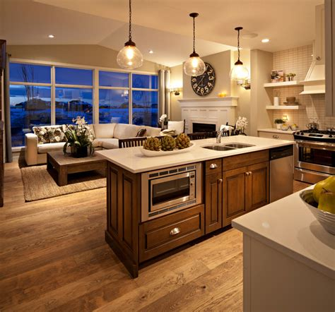 hawthorne kitchengreat room  dusk traditional