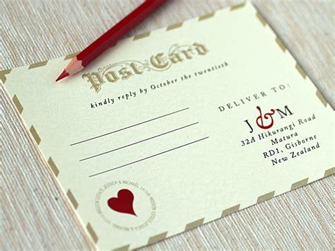 wedding invitations vintage love letters