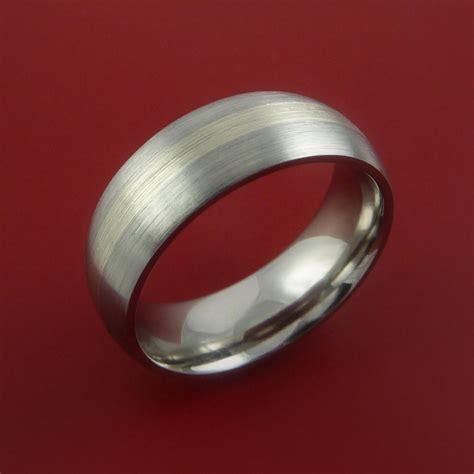 platinum and titanium wedding ring custom made band any finish and siz stonebrook jewelry