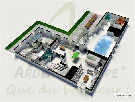chambre privative avec villa de luxe avec piscine et wellness pour 26 personnes à