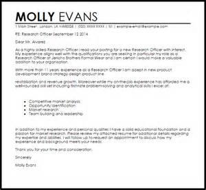 Ict Officer Cover Letter Research Officer Cover Letter Sle Livecareer