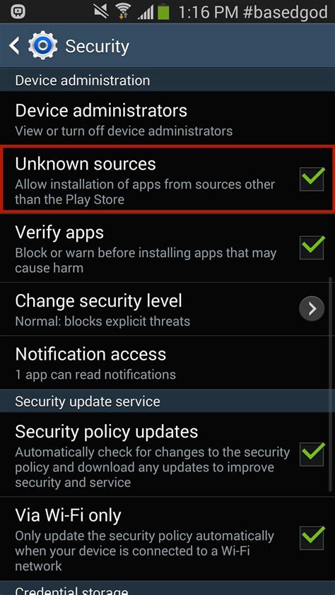 how to enable quot unknown sources quot in order to independent apps on your galaxy note 2 or 3