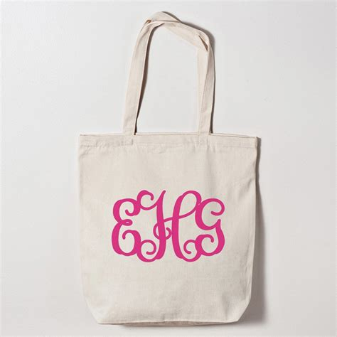 personalized monogrammed tote bag wedding bags