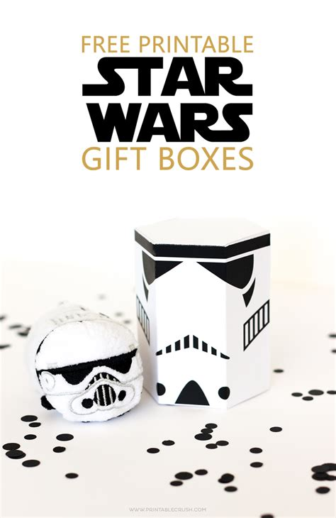 star wars printable gift boxes printable crush