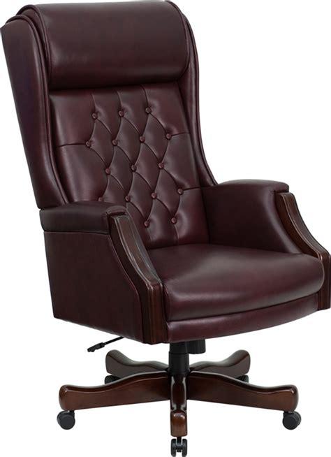 new traditional high back burgundy leather judges desk