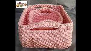 Corbeille Au Crochet : crochet corbeille carr e youtube ~ Preciouscoupons.com Idées de Décoration