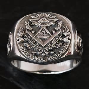 Masonic Illuminati Signet Ring Knights Templar Mason Cross