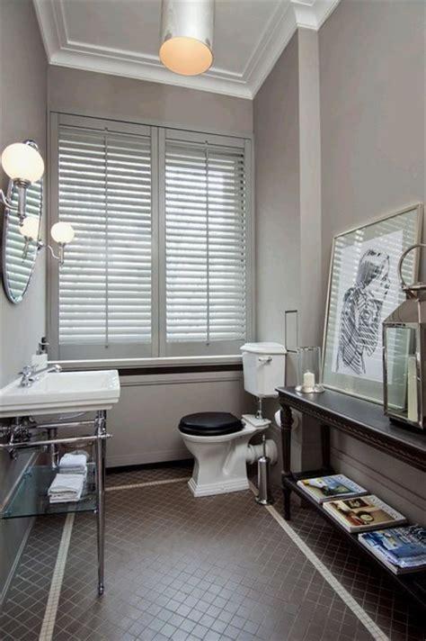 Pearl Gray Parisian Bath  Traditional  Cloakroom Paris