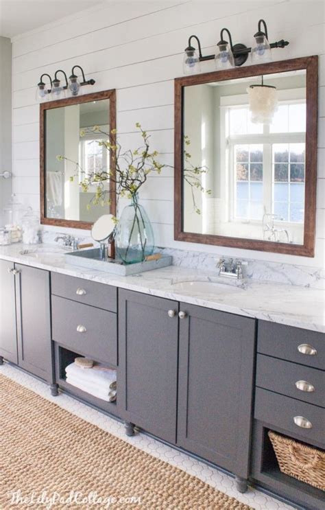 Master Bathroom Mirrors by Lake House Master Bath Makeover Lakes Bath And House