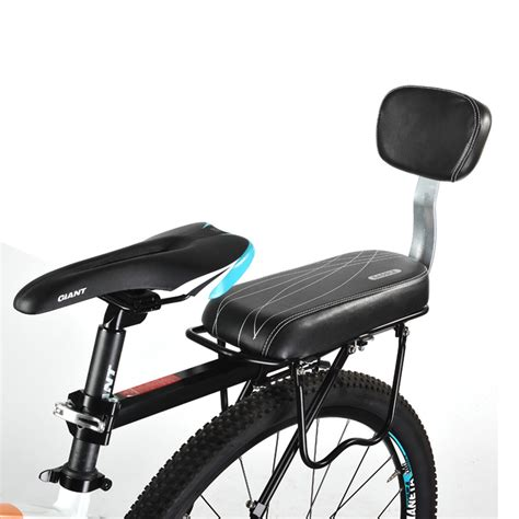 bicycle saddle bike child back seat pu leather cushion