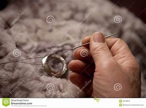 Hands Of An Elderly Woman For Sewing Stock Photo - Image ...