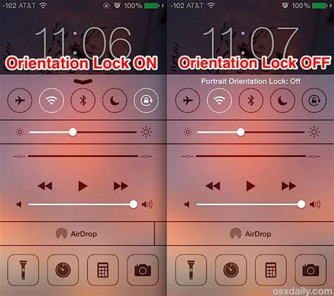 iphone lock rotation how to lock orientation to stop screen rotation in ios 10