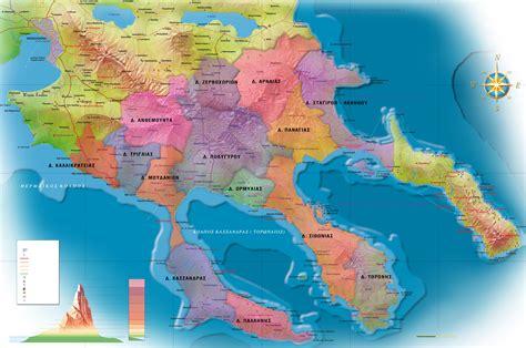 Griechenland Chalkidiki Karte