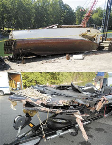 Boating Accident Smith Mountain Lake by Second Wrecked Boat Recovered Smith Mountain Eagle