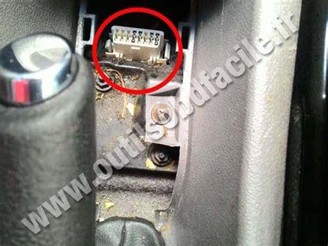 obd connector location  chevrolet zafira