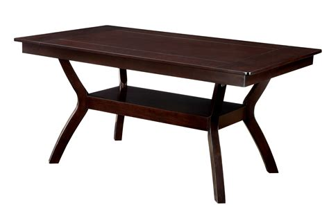 cherry wood dining table furniture of america dark cherry darcie wood dining table