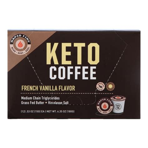 Has been added to your cart. Rapid Fire French Vanilla Keto Coffee Pods, 12 ct - Walmart.com - Walmart.com