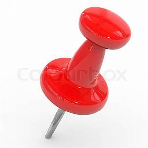 Red Thumbtack On A White Background Computer Generated