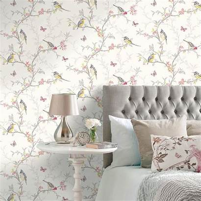 Birds Decor Wall Feature Themed Designs Wallpapers