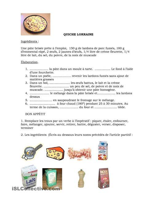 fiche recette de cuisine recette quiche lorraine quiche lorraine recette quiche