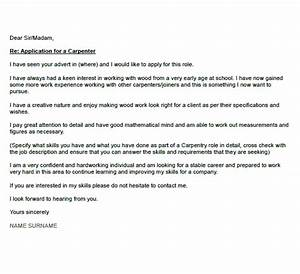 carpenter cover letter example icoverorguk With how to write a cover letter for an apprenticeship