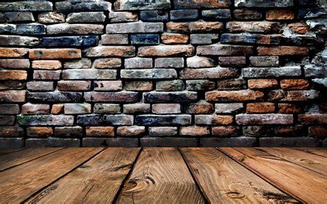 Walls, Bricks, Wood, Wooden Surface, Worms Eye View