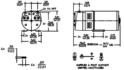 gast compressor wiring diagram gast 0523 rotary vane septic air gast 0523 101q