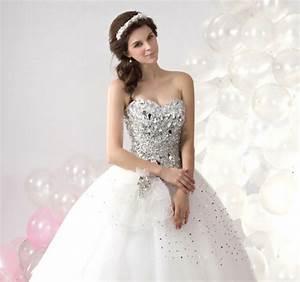 la robe bustier comment la porter With robe mariee avec bijoux strass mariage