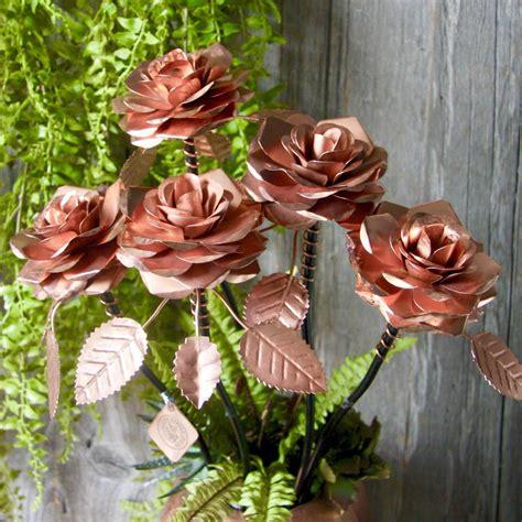 copper rose bouquet  london garden trading notonthehighstreetcom