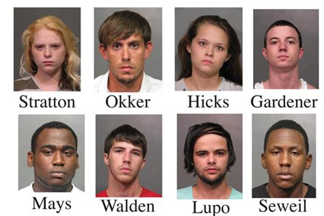 tip leads to arrest of eight bossier press tribune