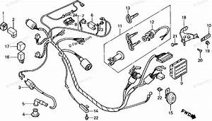 Honda Scooter 1987 Oem Parts Diagram For Wire Harness