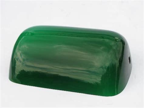 banker s green cased glass shade for vintage student desk