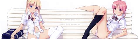 blondes panties school uniforms schoolgirls lolicon anime