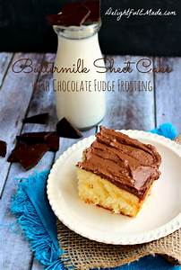 Made Com : buttermilk sheet cake with chocolate fudge frosting delightful e made ~ Orissabook.com Haus und Dekorationen