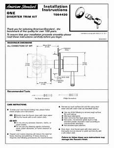 One Diverter Valve Trim Kit M968981 Manuals