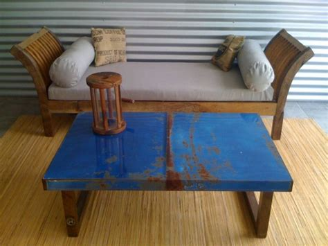 navy ottoman coffee table coffee table cool blue coffee table reclaimed modern