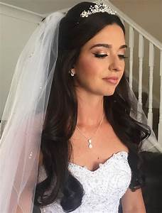 Half Up Half Down Wedding Hairstyles 50 Stylish Ideas for Brides Wedding using navy color