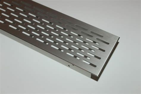 Lüftungsgitter Lochblech Aluminium Edelstahl Optik