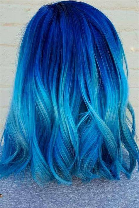 Best 25 Blue Hair Highlights Ideas On Pinterest Red
