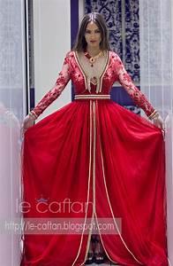 robe caftan marocain haute couture tendance rouge de la With robe caftan 2017