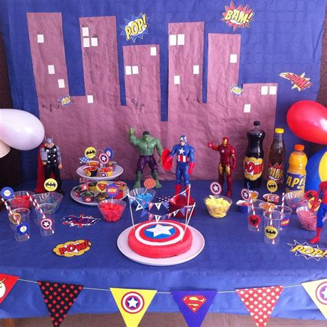 anniversaire de super heros  ans deco anniversaire