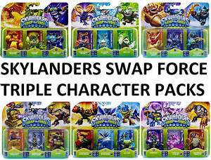 Skylanders Swap Force Triple Figure Character Packs Bnip