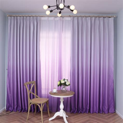 ombre window curtains purple ombre curtains for windows